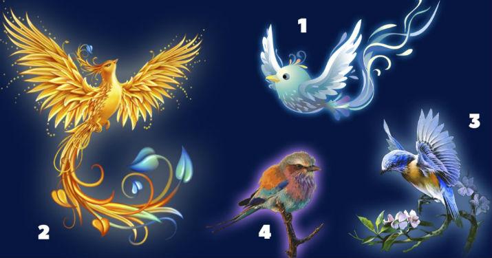 К Вам прилетели птицы счастья! Выберите одну, чтобы получить послание!