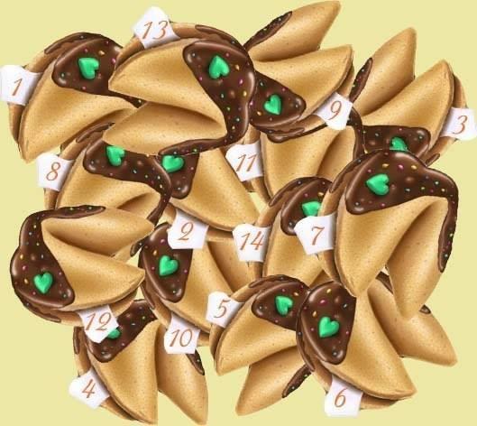 Выберите одну из печенек с предсказанием и узнайте, что внутри!