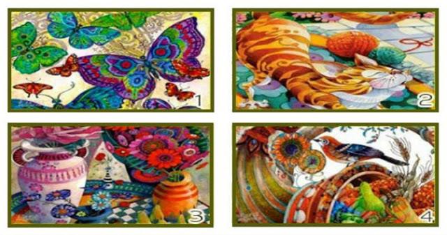 Выберите одно из красочных изображений и получите послание!