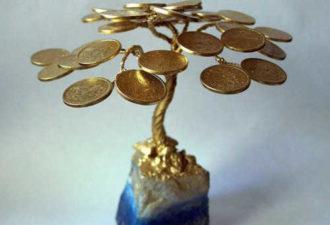 Денежное дерево из монет: сильный талисман на богатство своими руками